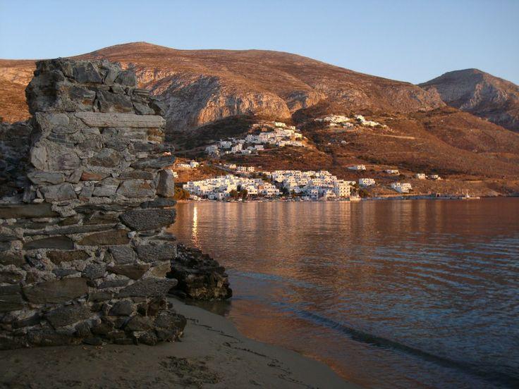 Aegiali Bay summer sunset