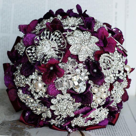Vintage Bridal Brooch Bouquet  Pearl Rhinestone by LXdesigns, $90.00