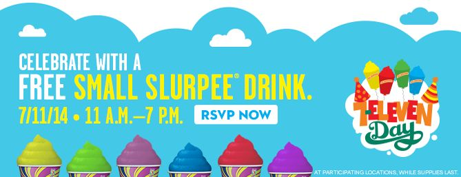 July weather can be brutally hot. It's the kind of weather that makes you want ice cream, Italian ice and FREE Slurpees! | The Happy Housewife
