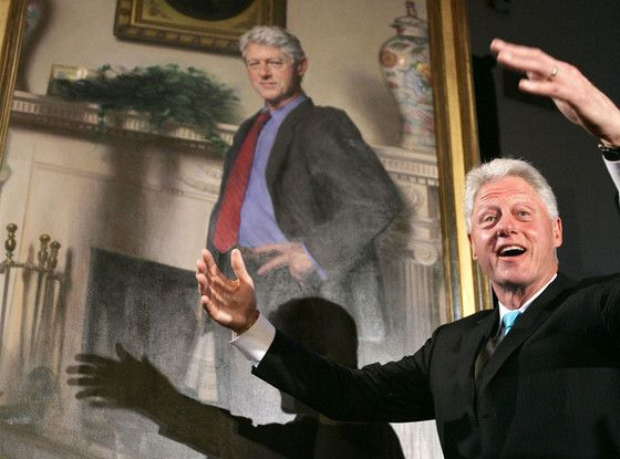 You'll Never Look at Bill Clinton's Official Portrait the Same Way Again After Artist Drops Monica Lewinsky Shocker  Bill Clinton, Portrait, Monica Lewinsky Dress