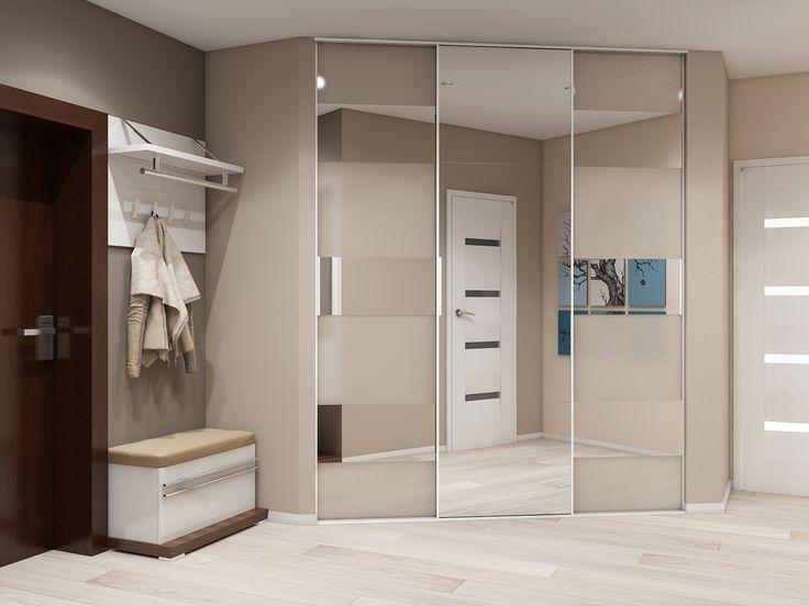 Прихожая в пастельных теплых тонах. Компактная мебель для прихожей и межкомнатные двери выполнены из экологически чистых материалов.
