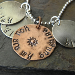 Use to sing this song to my children when they were young. :-): Personalized Necklace