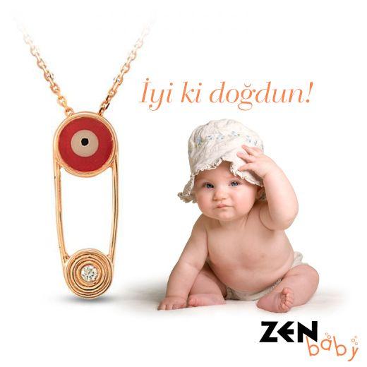 Zen Pırlanta; Zen Baby Koleksiyonu Bebek Kolye #baby #necklace #charm #diamond #fashion #moda #accessory #newborn #gift #suprise #style #evileyebead