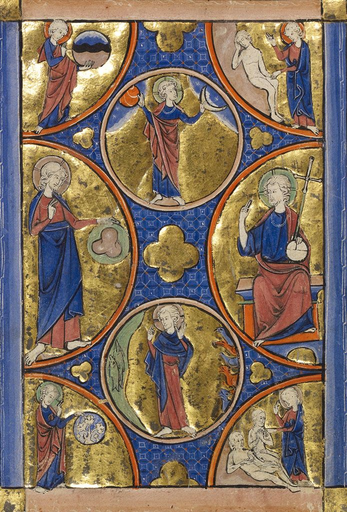 Getty Museum.The Creation of the World, from the Wenceslaus Psalter 2 dans immagini sacre 58306385e6cf60b3b302852833acbac3