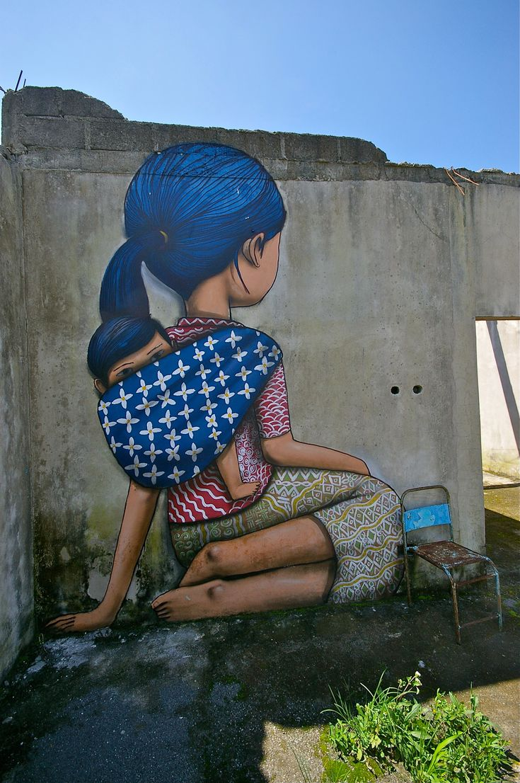 On Nov 5th 2010 Mount Merapi erupted destrying this village. Painted on the ruins of several houses were poignant echoes of life before the eruption. click on it it's beautiful and sad3D Street Art, Yogyakarta, The Artists, Street Art Utopia, Streetartutopia, Graffiti, Blue Hair, Murals, Indonesia