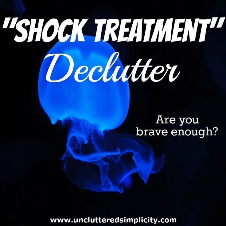 What's the shock treatment declutter method? Is it for you? You won't know until you try it. Do you want to eliminate clutter? Are you up for the challenge?