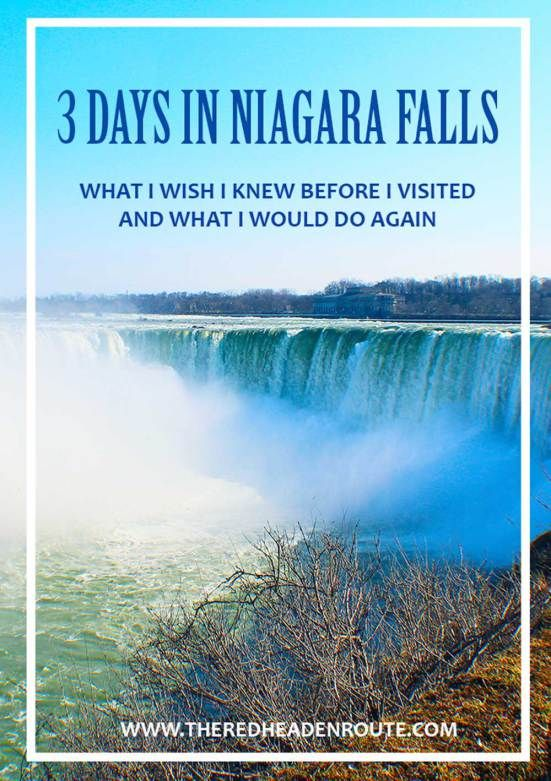 3 Days In Niagara Falls.