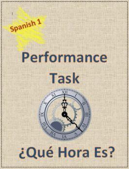 Performance Task Spanish Project Movie Script Group Film Skit Que hora es? Video