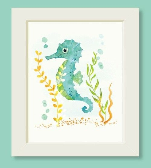 so cute....would be nice for a beach/sea themed baby nursery