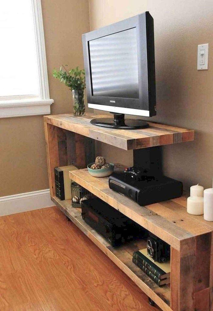 50 Favorite Diy Projects Pallet Tv Stand Plans Design Ideas 43 In 2020 With Images Pallet Tv Stand Tv Stand Plans