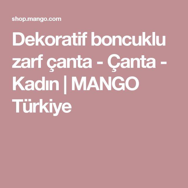 Dekoratif boncuklu zarf çanta - Çanta - Kadın | MANGO Türkiye