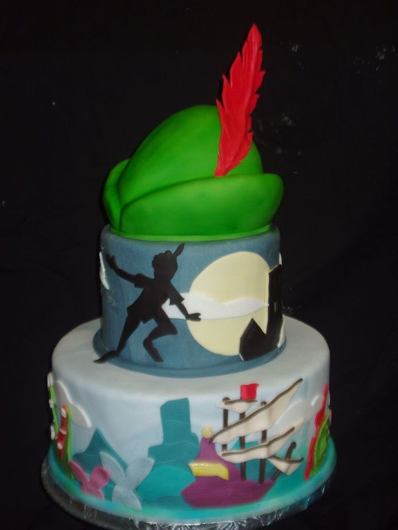Peter Pan cake by my daughter Heather. It goes with the quilt I made.