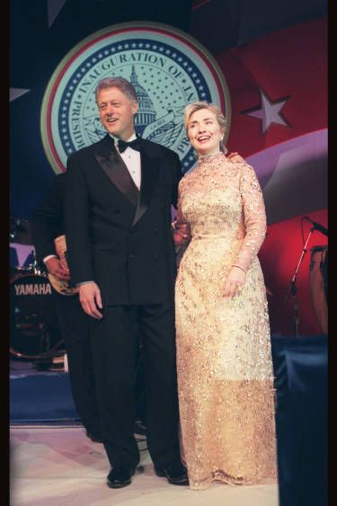 Fashion Politics - Hillary Clinton in Oscar de la Renta, 1997