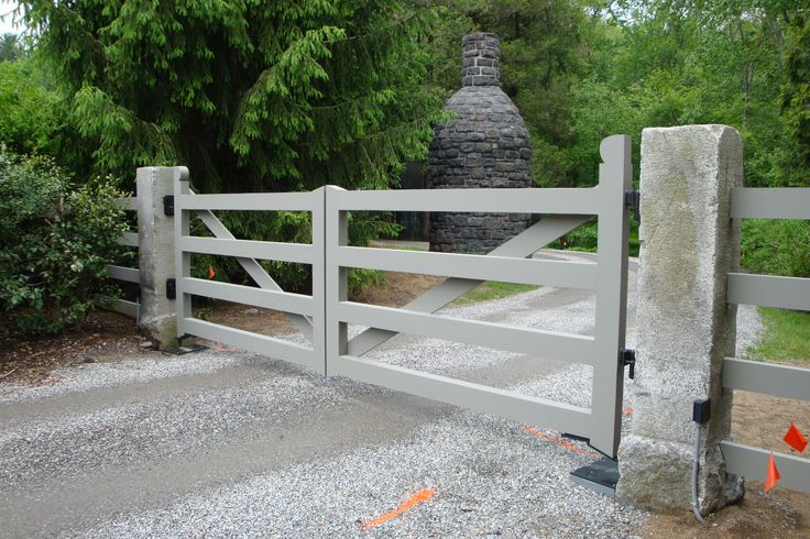 Driveway Gate Posts, I have a wild idea of painting mine aqua, or some other bright color,,,,,,,,