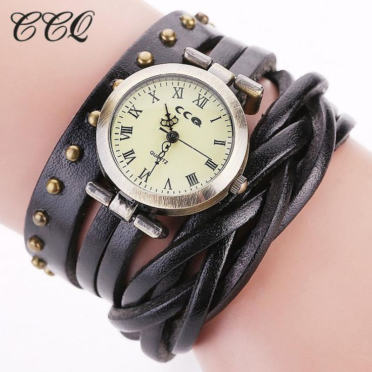 CCQ Women Fashion brand vintage watch women luxury watch Casual Analog Quartz Women Bracelet Watch dress ladies 2017 hot sale