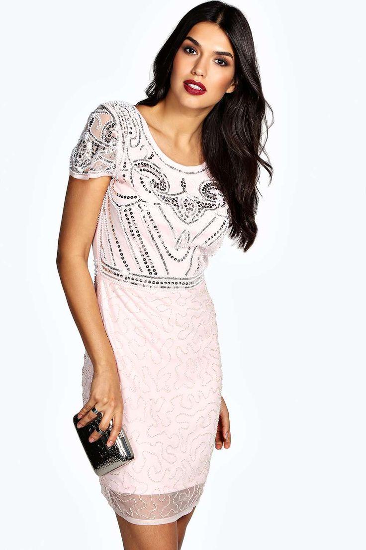 Boutique Evelyn Hand Beaded Shift Dress alternative image