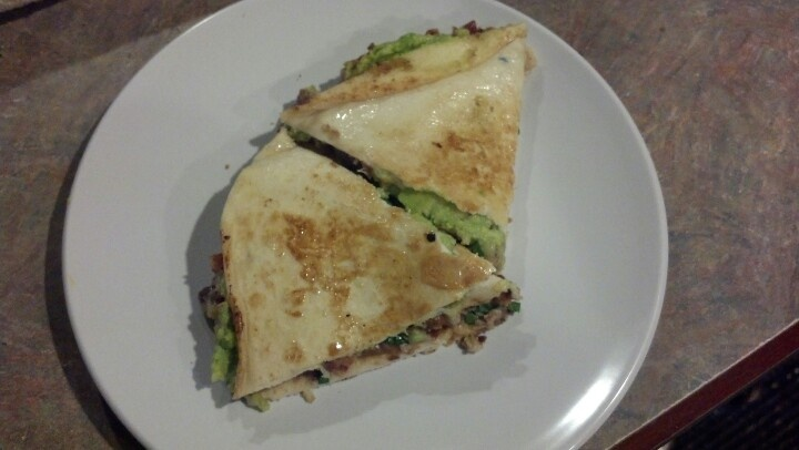 Big Quesadillas With Refried Beans, Spinach, And Avocado Recipe ...