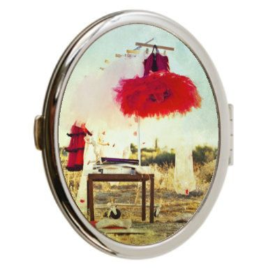 Red Tutu Photo Compact Mirror Double Sided Mirror by whimsycanvas, $20.00