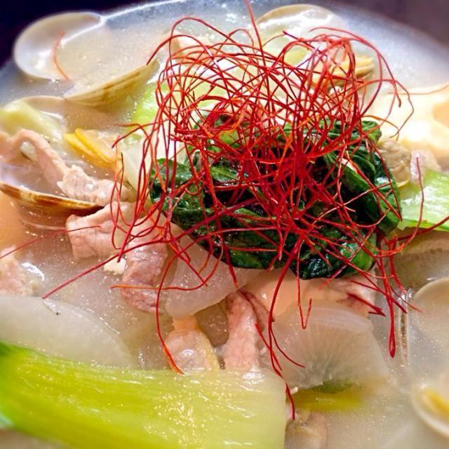 あさりの出汁っておいし〜 - 54件のもぐもぐ - あったまる〜アサリ出汁の中華スープ by 310pi