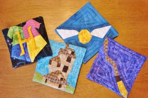 harry potter quilted coasters: Patterns How Fun, Harry Potter Quilt, Diy