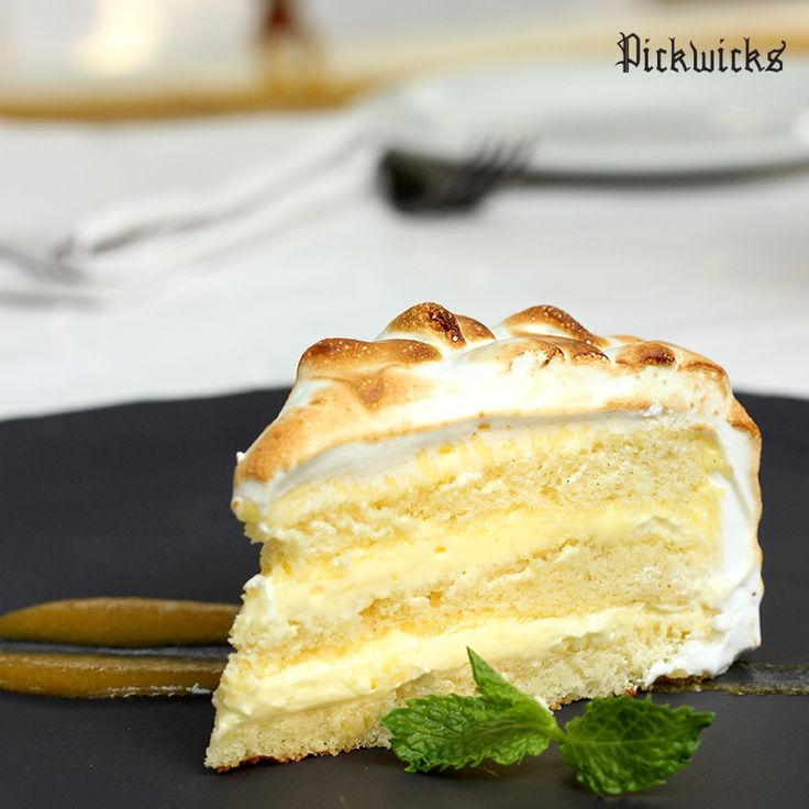 Are you looking for a dessert with a fancy finish?   Try our Lemon Meringue cake and be blown away by the flavor of fresh lemon, complimented perfectly by moist layers of cake and custard!