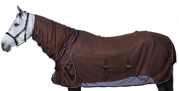 """Chemise anti-mouches """"Equi Sky Full Cover"""" avec couvre-cou pour votre cheval."""