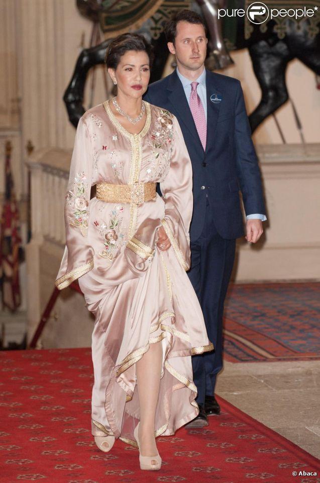 La toujours très élégante princesse Lalla Meryem du Maroc. La reine Elizabeth II accueillait à... - Photos