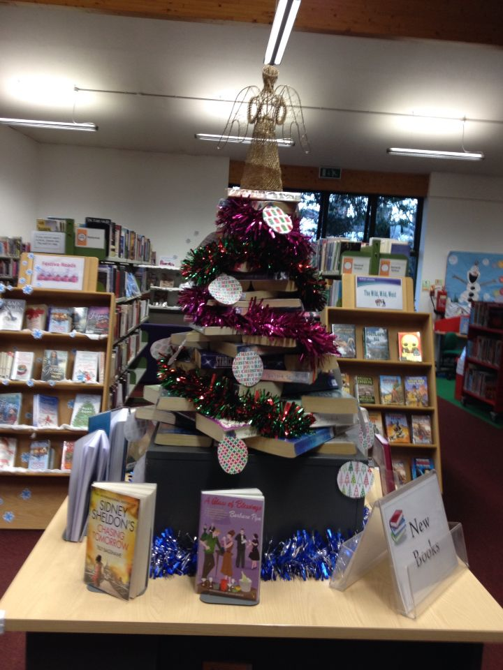 Book tree I have just done in our library