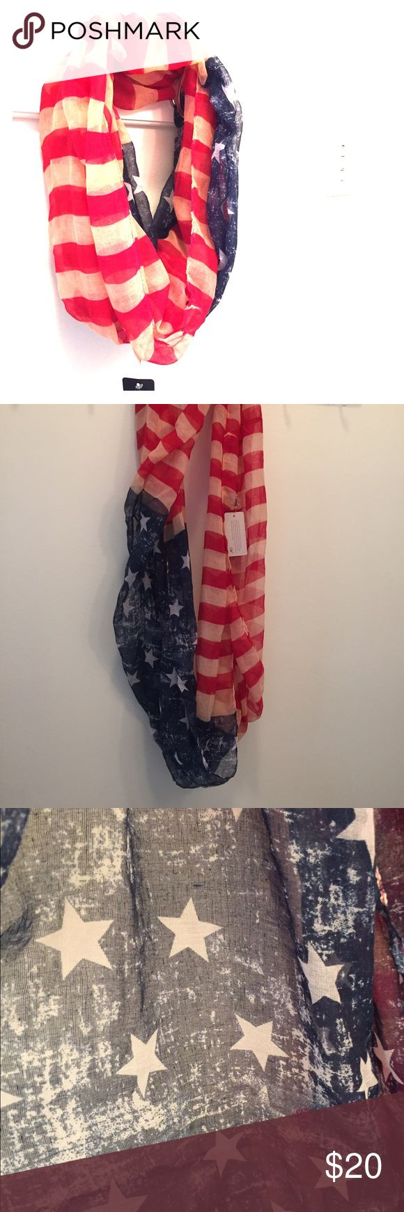 🇺🇸 NWT Flag Print Infinity Scarf American Flag Print Infinity Scarf. Tags still attached. One size fits all. Accessories