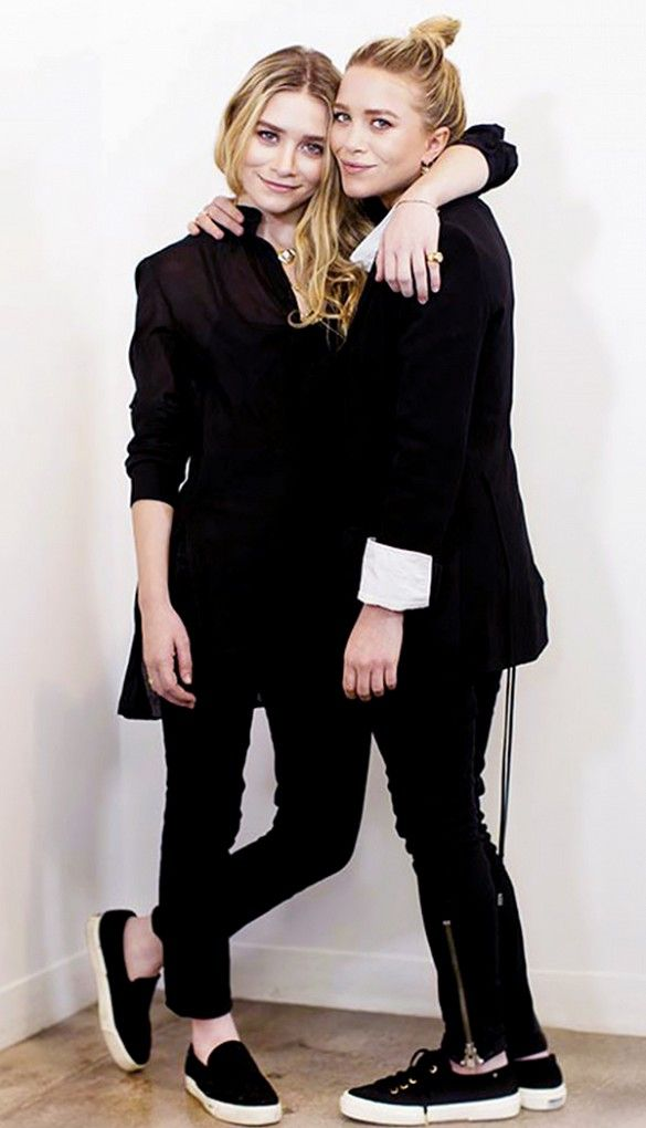 The Olsen twins prove, being petite does NOT mean you always have to be wearing heels // #celebritystyle