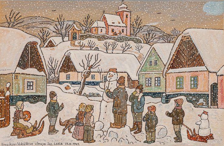 Zda budou letos Vánoce na sněhu je ve hvězdách. Jistotou však je, že v něděli 20. listopadu Vám nabídneme Stavění sněhuláka od Josefa Lady. Odkaz na položku s možností limitování online: http://www.europeanarts.cz/detail.php?poldet=041&aa=4-2016 European Arts Aukce (@European_arts)   Twitter