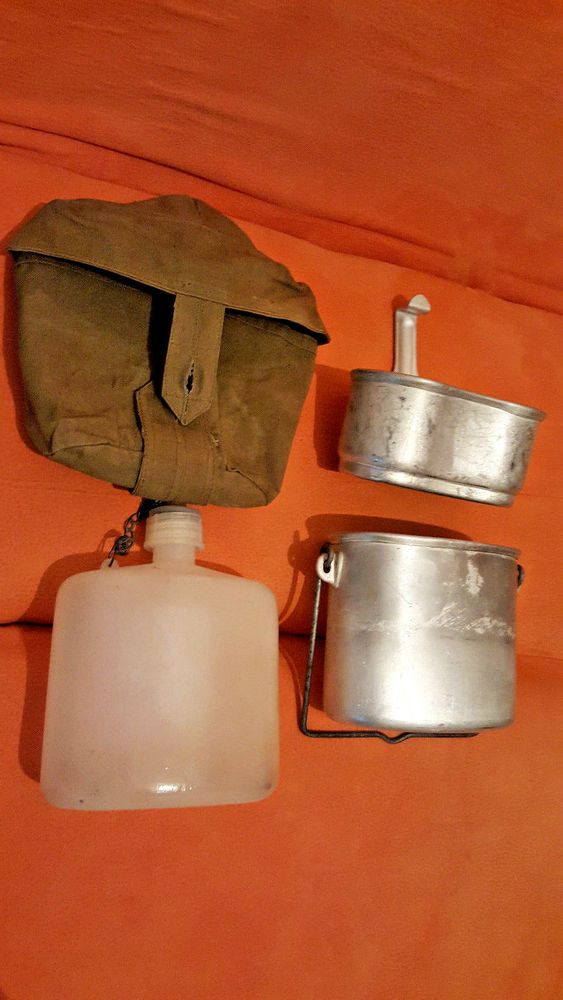 USSR Russian Army Military VDV Airborne Combined Flask Mess SET Original SALE