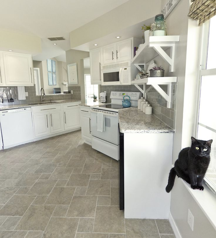 white kitchen - this is my inspiration for painting cabinets white