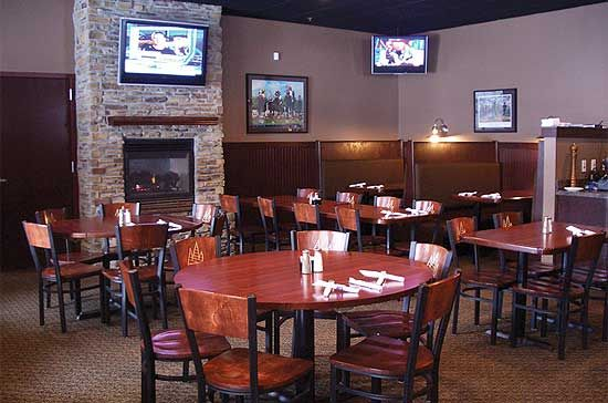 Cozy up next to the fireplace at our South Des Moines location!