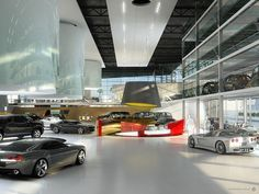 This is the rendering of General Motors auto showroom in Kuwait. Rendering by Transparent House. (via CGarchitect)