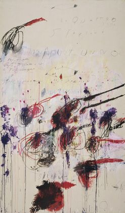MoMA | The Collection | Cy Twombly. The Four Seasons: Spring, Summer, Autumn, and Winter. 1993-94