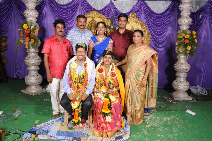 With family on our wedding day. May 9th 2015. From Left (My dad, my brother-in-law, my sister, my mother, me and sushma sitting).