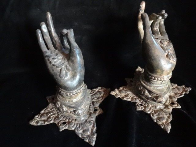 Hand Door Handle Beauty Buddha Brass Bronze Cart Hanger Collectable Art Decor #Balinesemaker