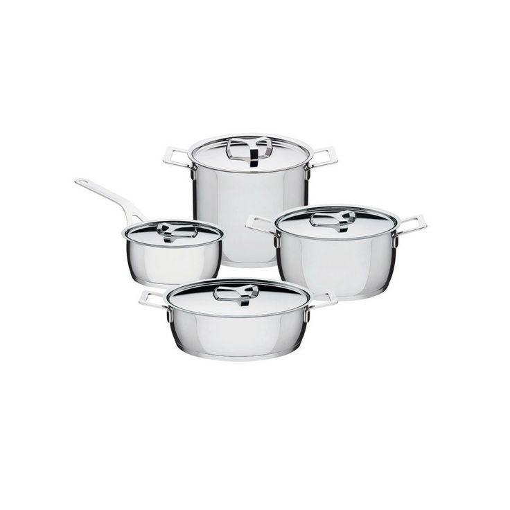 Discover the Alessi Jasper Morrison Pots&Pans Set at Amara
