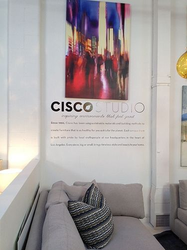 Cool lettering - Produced and Installed by Fastsigns Vancouver for Cisco Home. www.fastsigns.com/653