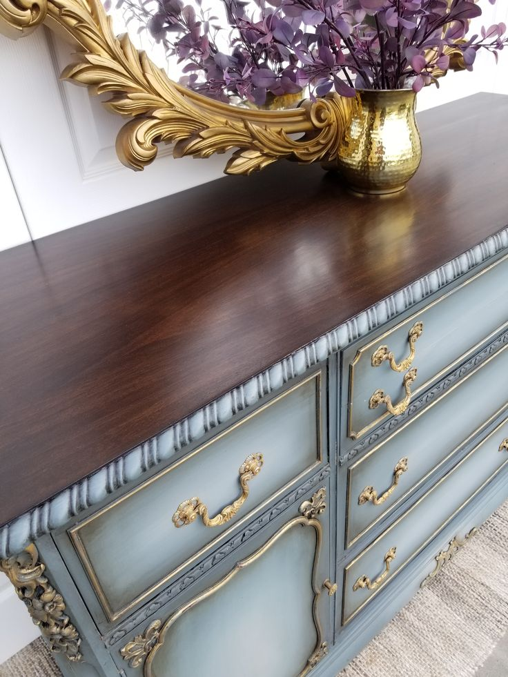 Blended Blue Buffet   Brushed By Brandy   Painted ...