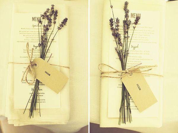 lavender place settings names wedding