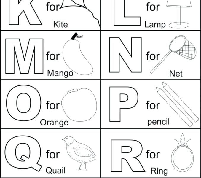 Abc Letters Coloring Pages Coloring Book Free Alphabet Coloring