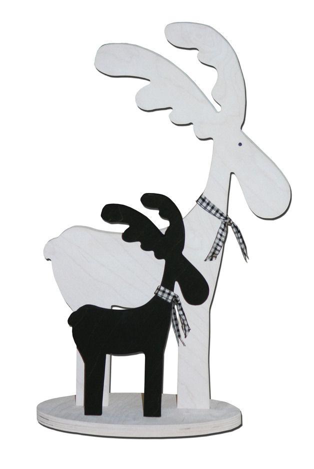 wunderschöne Elche schwarz/weiß
