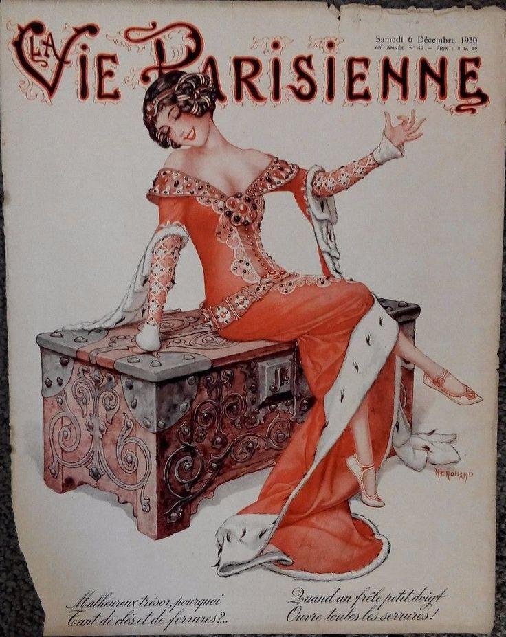 LA VIE PARISIENNE SEXY RISQUE ILLUSTRATIONS 1/6/1923 MILLIERE, HEROUARD, ETC ART