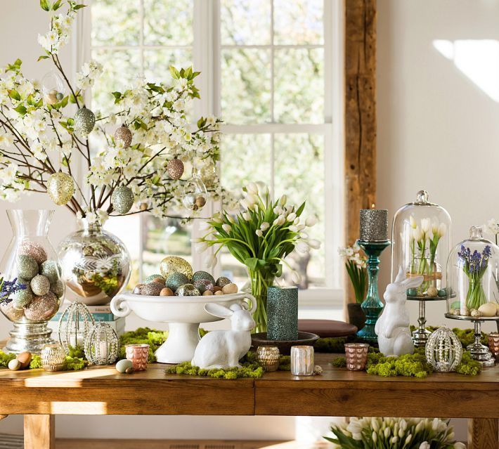 easter home decor pottery barn easter pinterest