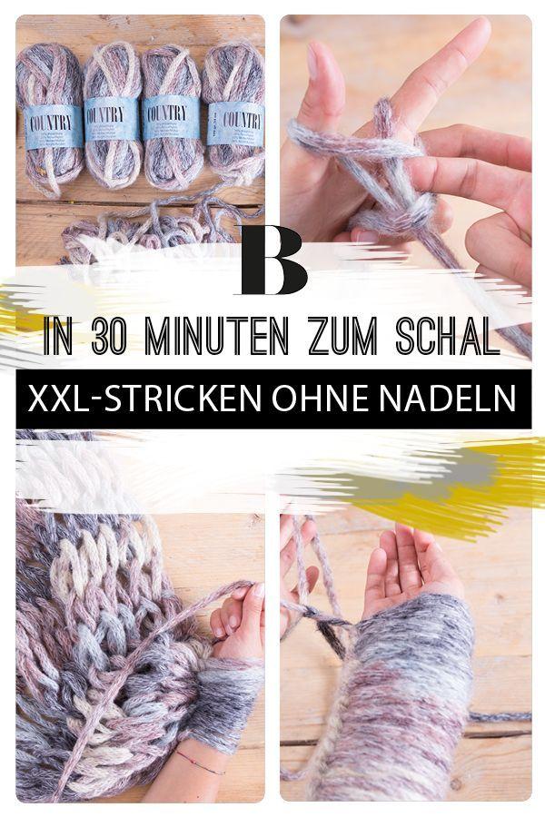 XXL-Stricken ohne Nadeln: In nur 90 Minuten strickst du eine Kuscheldecke