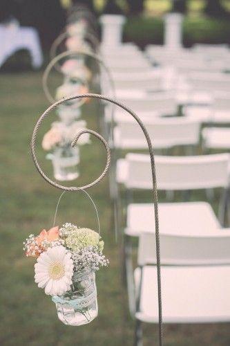 20 Piquets de décoration pour cérémonie | Annonces Dentelle
