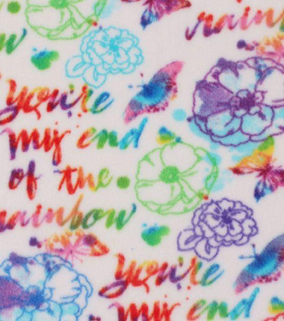 "Anti-Pill Fleece Fabric 59""-End Of Rainbow Watercolor"