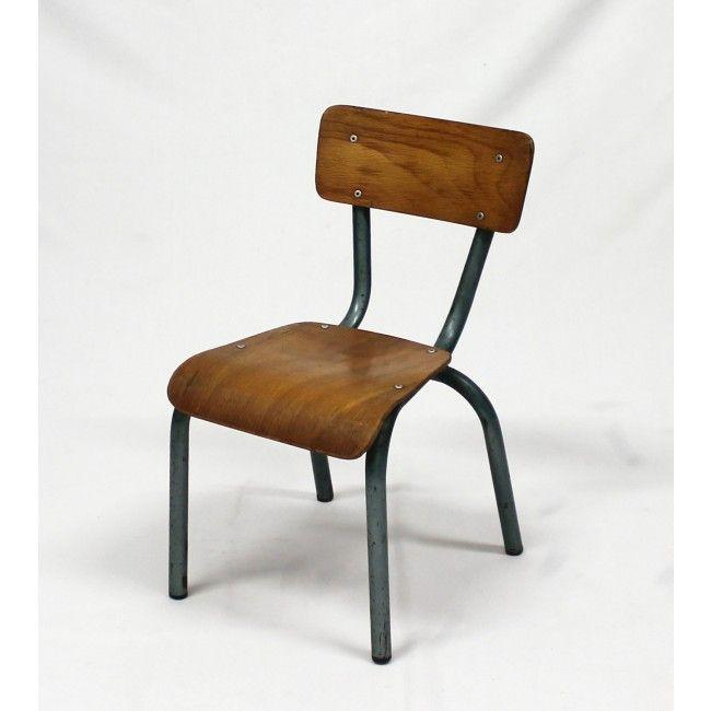 chaise d 39 cole vintage mullca bois mat riau bon tat